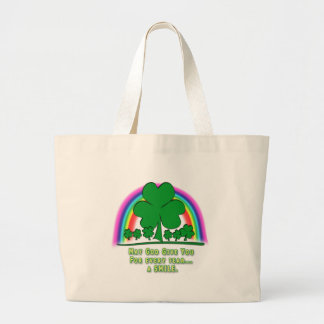 SMILE to REPLACE TEARS - IRISH BLESSING Tote Bags