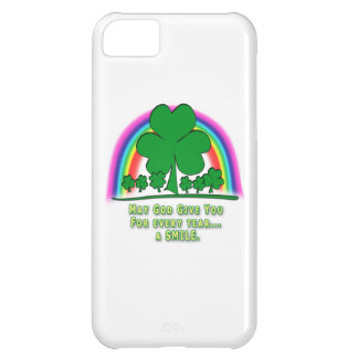 SMILE to REPLACE TEARS - IRISH BLESSING Case For iPhone 5C