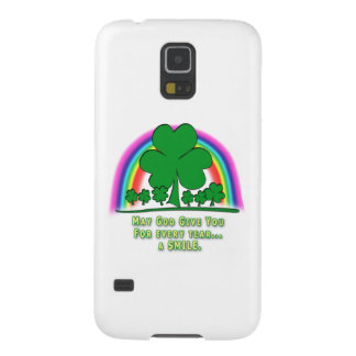 SMILE to REPLACE TEARS - IRISH BLESSING Cases For Galaxy S5