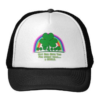 SMILE to REPLACE TEARS - IRISH BLESSING Trucker Hat
