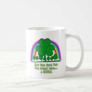 SMILE to REPLACE TEARS - IRISH BLESSING Mug