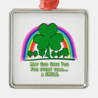 SMILE to REPLACE TEARS - IRISH BLESSING Christmas Ornaments