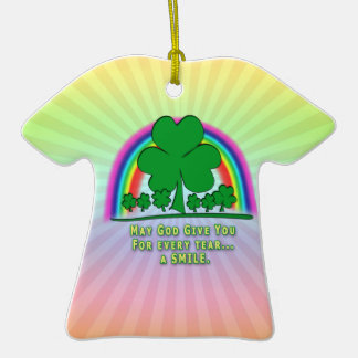 SMILE to REPLACE TEARS - IRISH BLESSING Ornaments
