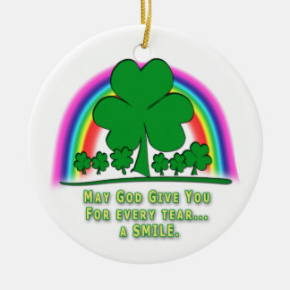 SMILE to REPLACE TEARS - IRISH BLESSING Christmas Ornament