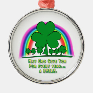 SMILE to REPLACE TEARS - IRISH BLESSING Ornament
