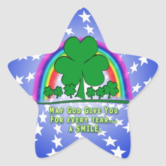 SMILE to REPLACE TEARS - IRISH BLESSING Stickers