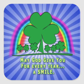 SMILE to REPLACE TEARS - IRISH BLESSING Sticker