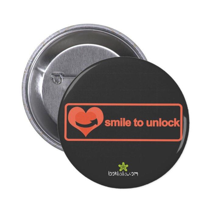 Smile to unlock button