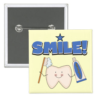 SMILE - Tooth T-shirts and Gifts 2 Inch Square Button