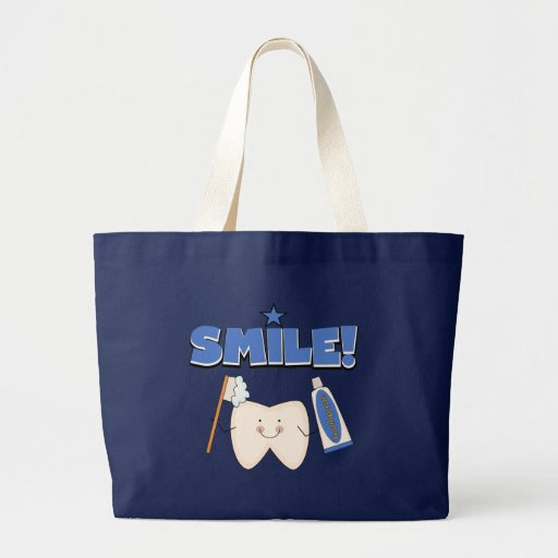 Smile Tooth T Shirts And Gifts Large Tote Bag Zazzle
