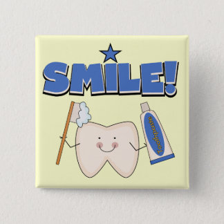 SMILE - Tooth T-shirts and Gifts Pinback Button