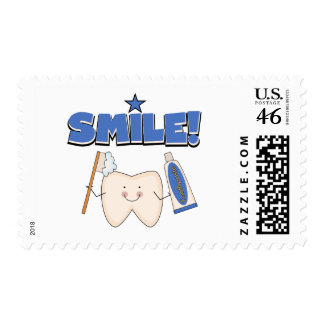 SMILE - Tooth T-shirts and Gifts Postage Stamp