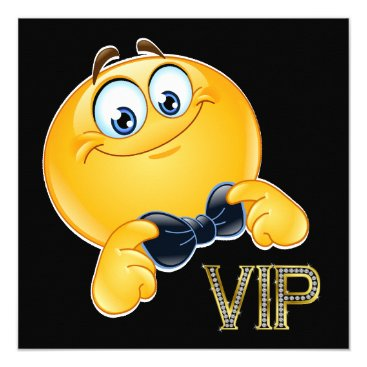 Professional Business Smile VIP Black Tie Event INVITATION