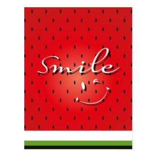 Smile Watermelon Postcard