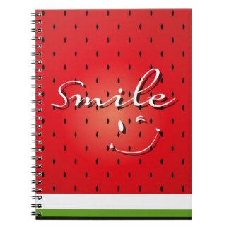 Smile Watermelon Spiral Notebook