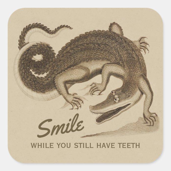 Smile while you still have teeth CC0890 Crocodile