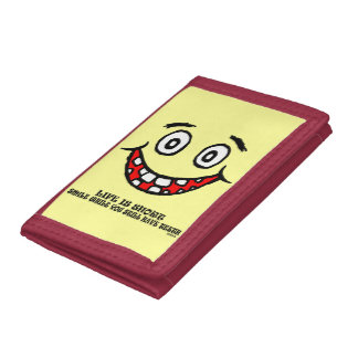 Smile while you still have teeth trifold wallet