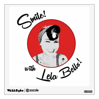Smile! with Lela Bells! fabric wall decal