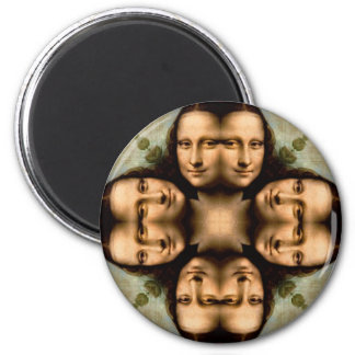 Smile with Mona Lisa Fridge Magnet