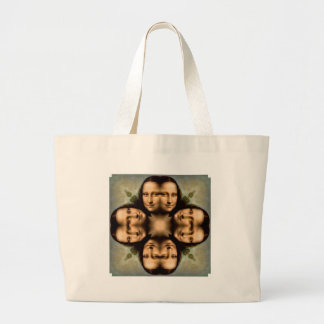 Smile with Mona Lisa Tote Bag