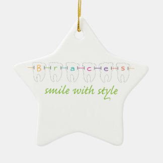 Smile With Style Ceramic Ornament