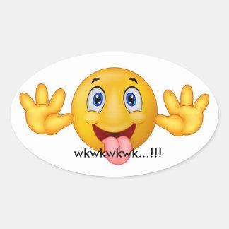 smile wkwk oval sticker