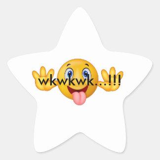 Smile wkwk star sticker