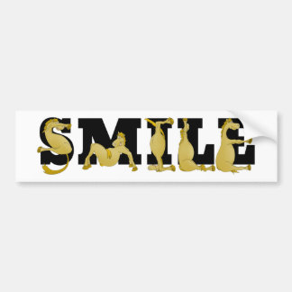 SMILE written in cute flexible ponies Bumper Stickers