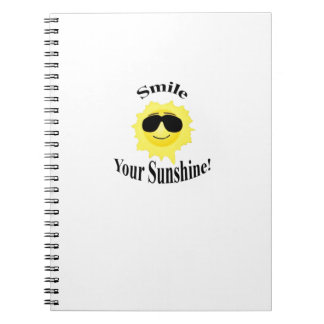 Smile Your Sunshine Spiral Notebook