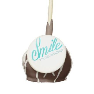 Smile You're Amazing Cake Pops