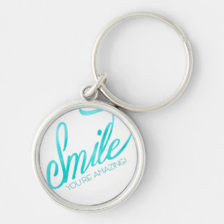 Smile You're Amazing Keychain