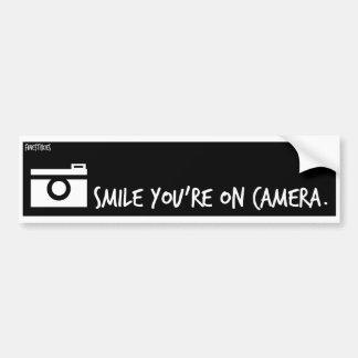 Smile You're on Camera. Car Bumper Sticker