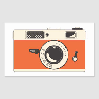 smile you're on camera rectangular sticker