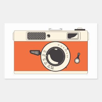 smile you're on camera rectangular sticker