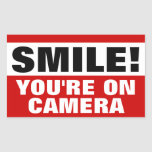 Smile You're On Camera Stickers at Zazzle