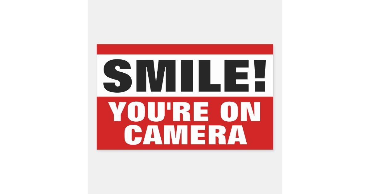 Smile you're on Camera Stickers | Zazzle.com
