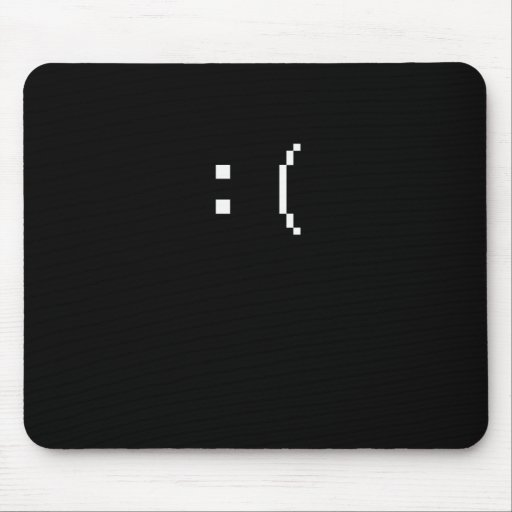 smilefrown1 mouse pad