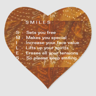 Smiles are Contagious Heart Sticker