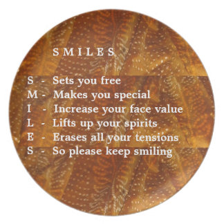 Smiles are Contagious Party Plate