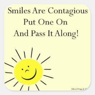 Smiles Are Contaigous! Square Sticker
