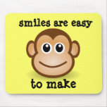 Smiles are easy to make mouse pads