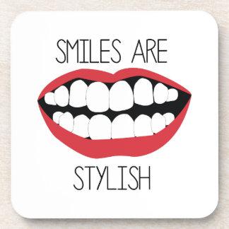 Smiles are Stylish Beverage Coasters