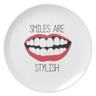 Smiles are Stylish Party Plate