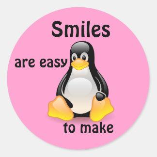 Smiles Classic Round Sticker
