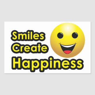 Smiles Create Happiness - Sticker