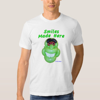 Smiles Made Here Smiling Green Monster Balloon Art T Shirt