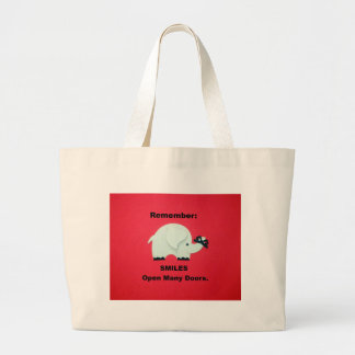 Smiles Open Many Doors! Large Tote Bag