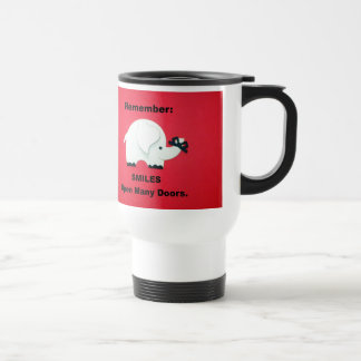 Smiles Open Many Doors! Travel Mug