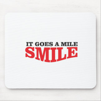 smiles rules mouse pad