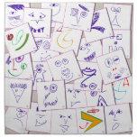 smiles_sketch printed napkin